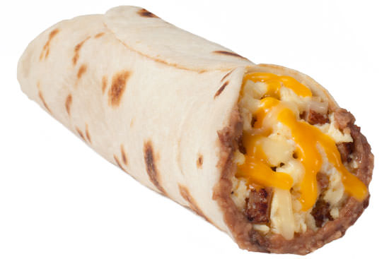 Ham, Egg, Bean, and Cheese Taco