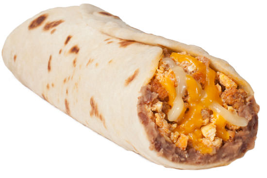 Chorizo and Egg Taco with Bean and Cheese