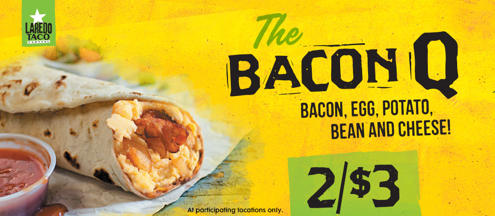 Bacon Q TAco 2 for $3