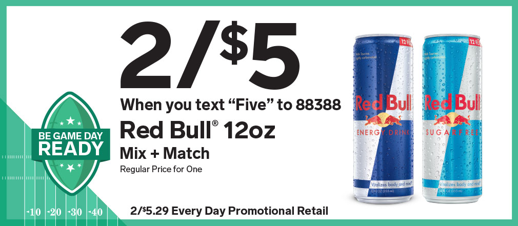 Your deal on Red Bull is just a click/call away.