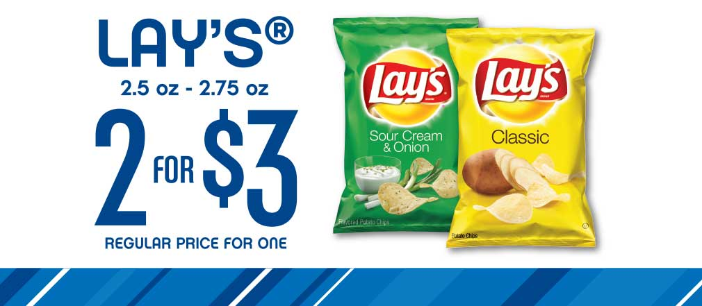 Lay's Chips -- 2 for $3