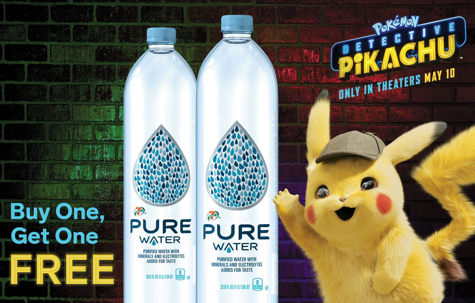 Buy One, Get One FREE - Pure water