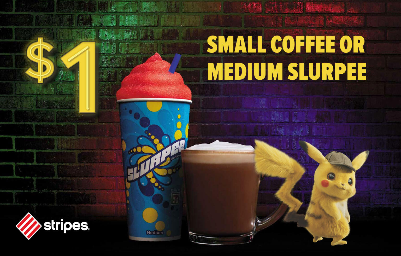 One Dollar Small Coffee or Medium Slurpee