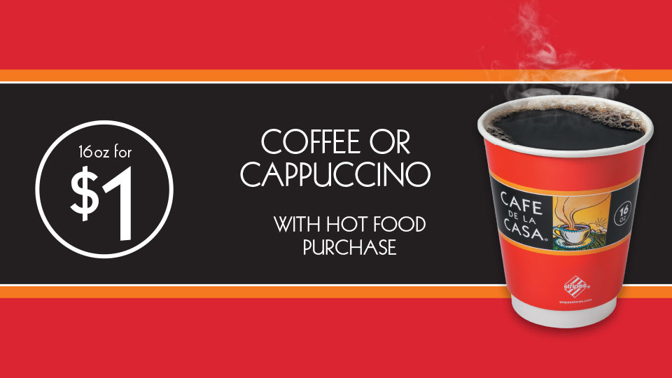 $1 Coffee or Cappuccino Image