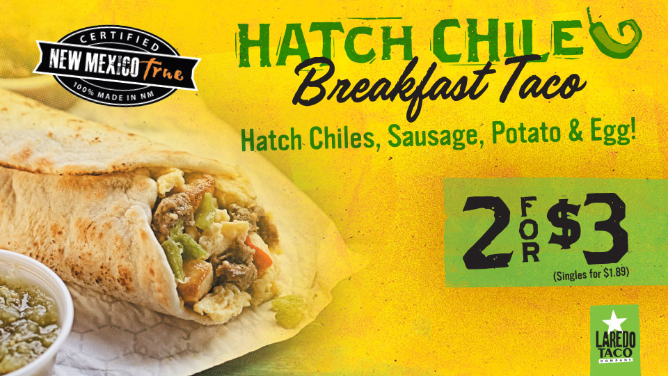 Hatch Chile Breakfast Taco 2/$3
