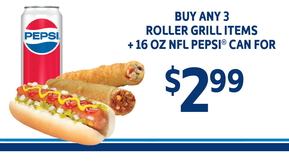 Roller Grill & Pepsi Image