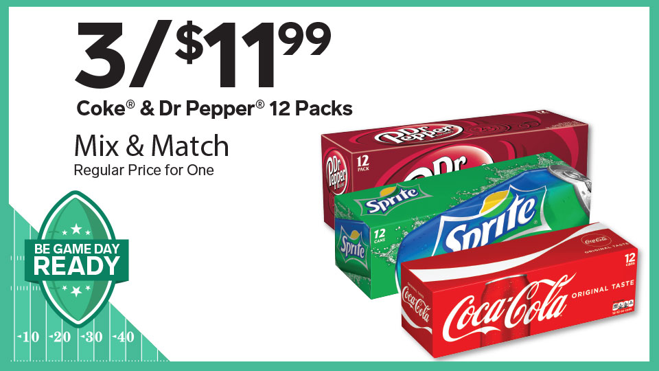 Save more at Stripes... on 12 packs!  Image