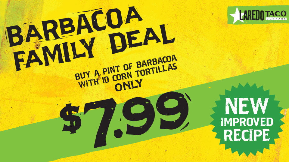 Barbacoa for the Whole Family! A Pint & 10 Tortillas- $7.99 Image