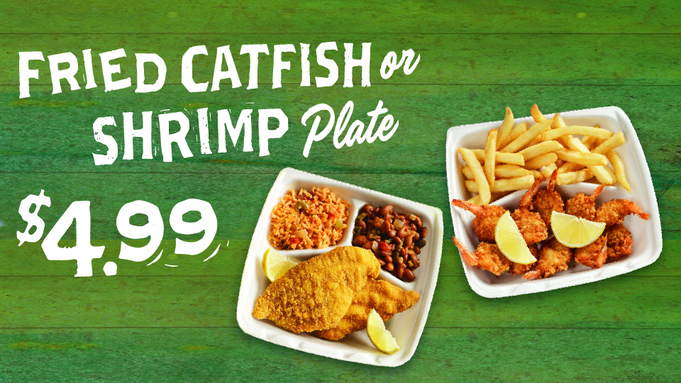 Fried Shrimp or Catfish $4.99 Image