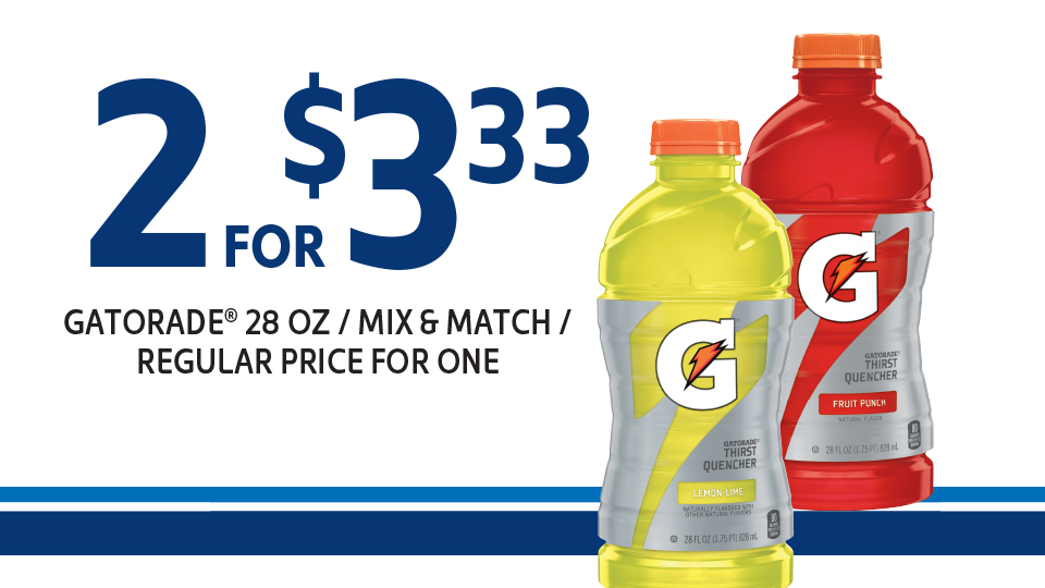 Great Savings on Gatorade Image