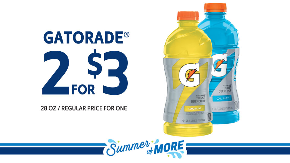 Gatorade 2 for $3