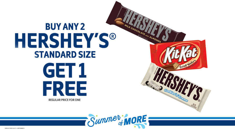 Buy Any 2 Hershey Standard Size Get 1 Free