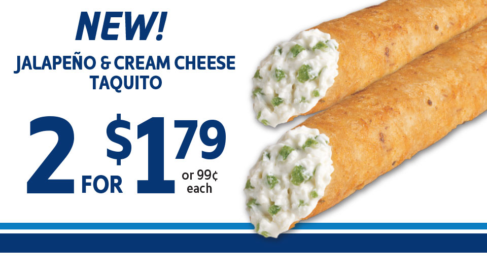NEW! 2 Taquitos just $1.79 Image