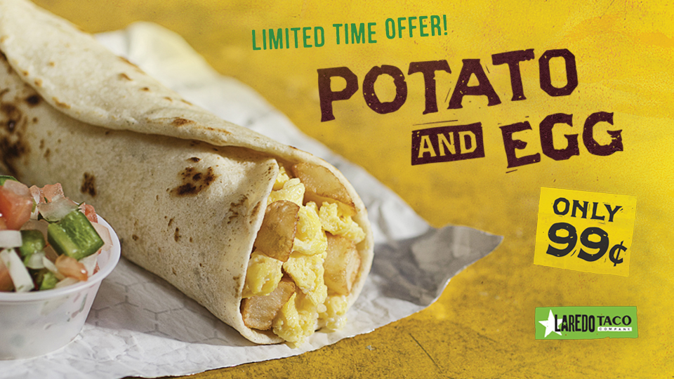 Limited Time Offer: Potato & Egg Taco Image