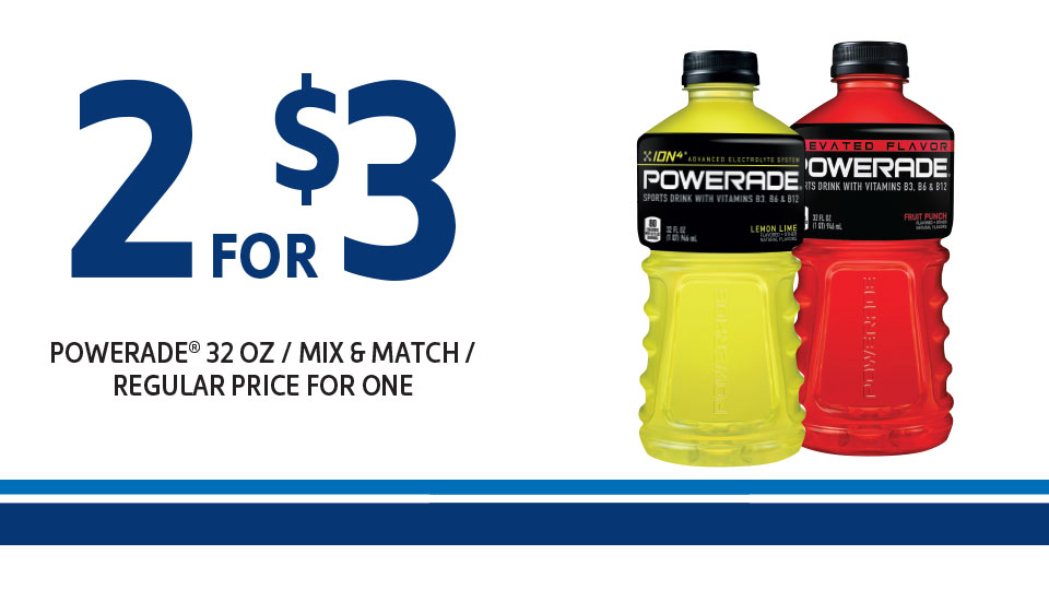 Power Up Your Day with Powerade Image