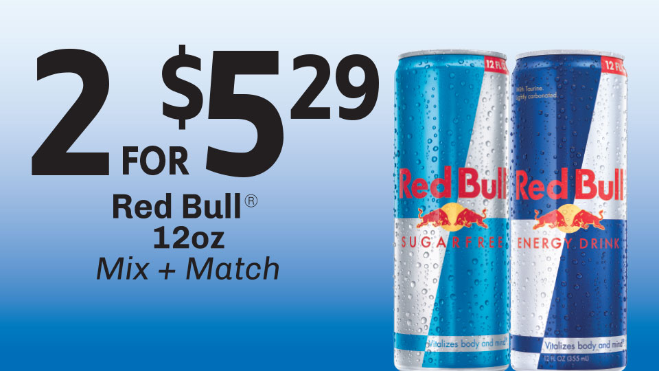 Get Going with Redbull 2 for 5! Image