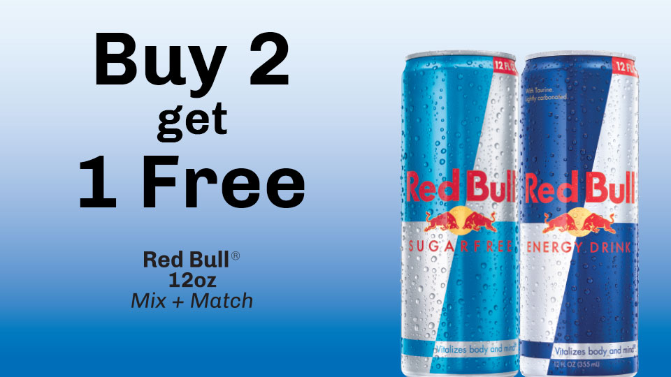 Get Going with Redbull! Buy 2 get 1 free!  Image