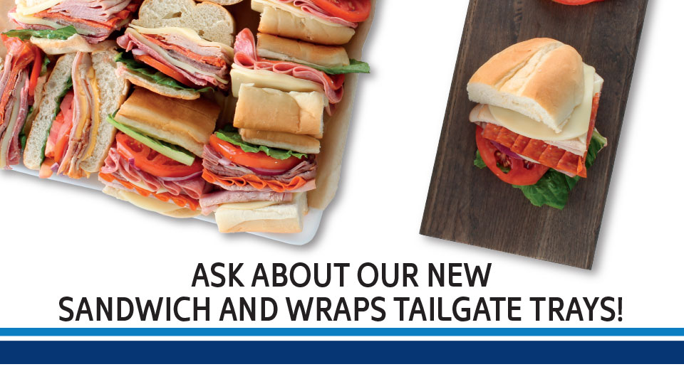 Sandwich and Wraps Tailgate Trays Image