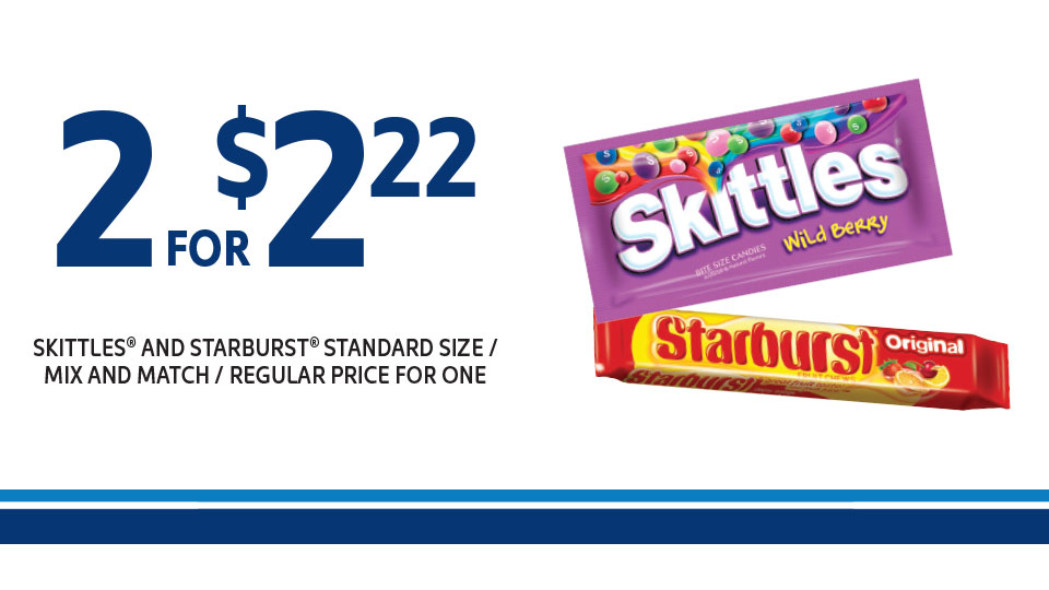 Skittles & Starbusts 2 for $2.22 Image