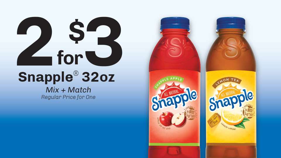 Snapple: 2 for $3 Image