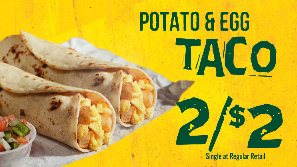 Potato & Egg Taco - 2 for $2