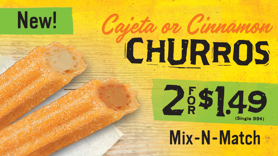 Churros 2 for $1.49 at Stripes
