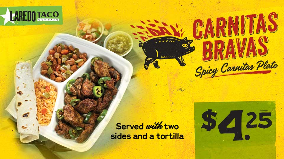 Carnitas Bravas plate for $4.25