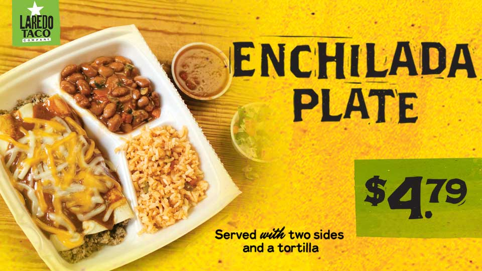 Enchilada Plate only $4.79